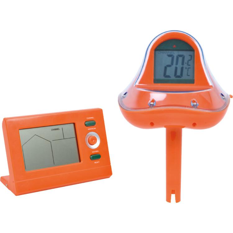 Thermometer met zender en ontvanger