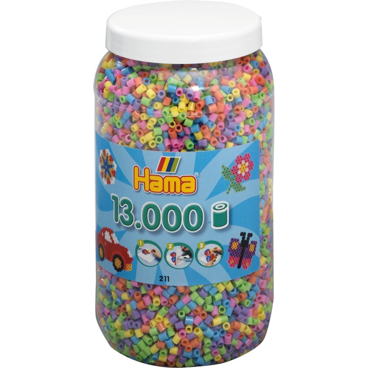 Pot met 13.000 strijkkralen