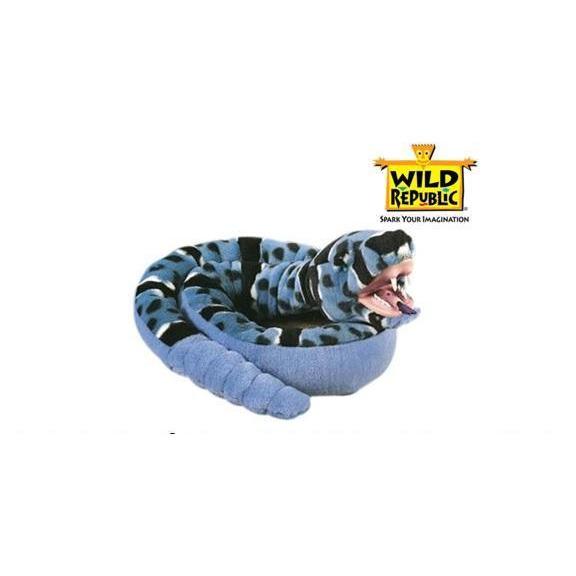 Wild Republic Knuffel - Blauwe Rots Ratelslang Met Tanden