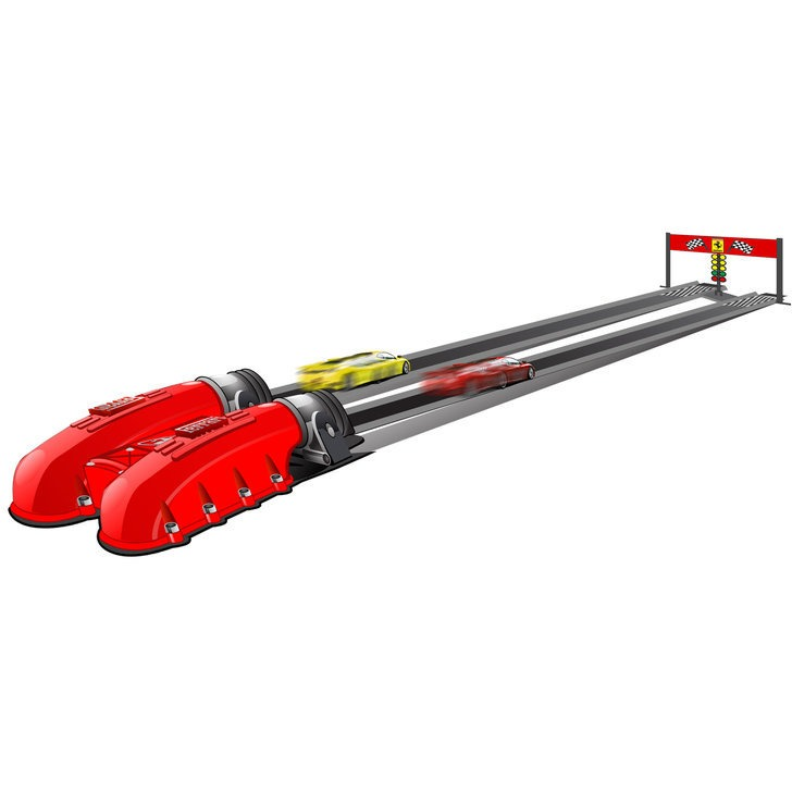 Bburago Ferrari race + Play Racing Launcher +2 cars
