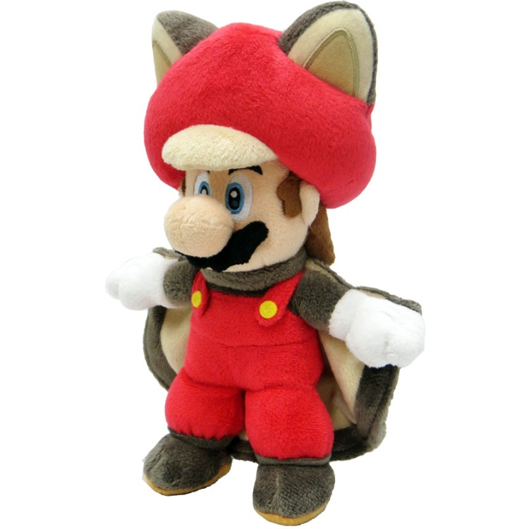 Super Mario Bros.: Flying Squirrel Mario 22 cm Pluche