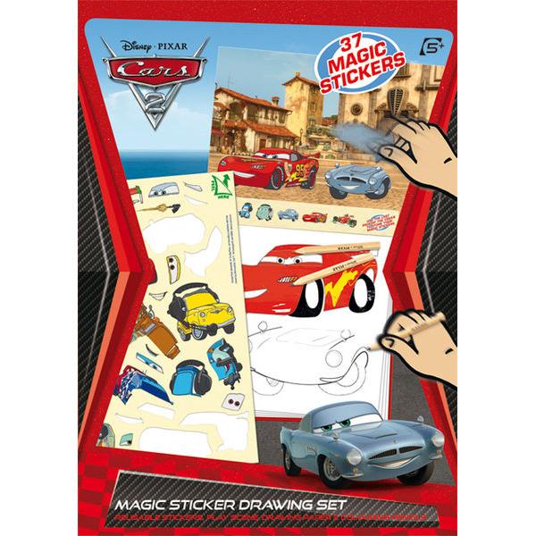 Cars 2 Magische Sticker Tekenset