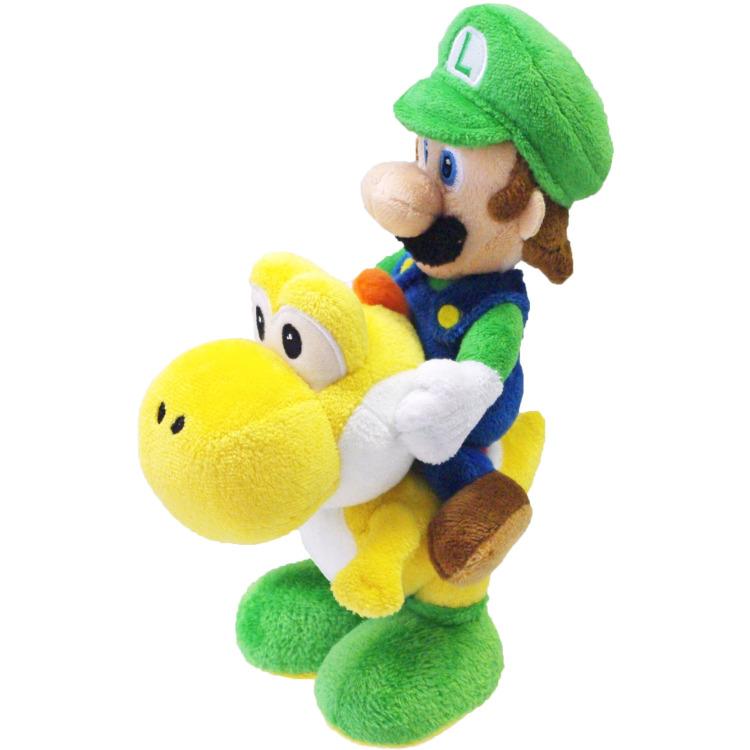 Super Mario Bros.: Luigi Riding Yoshi 20 cm Pluche
