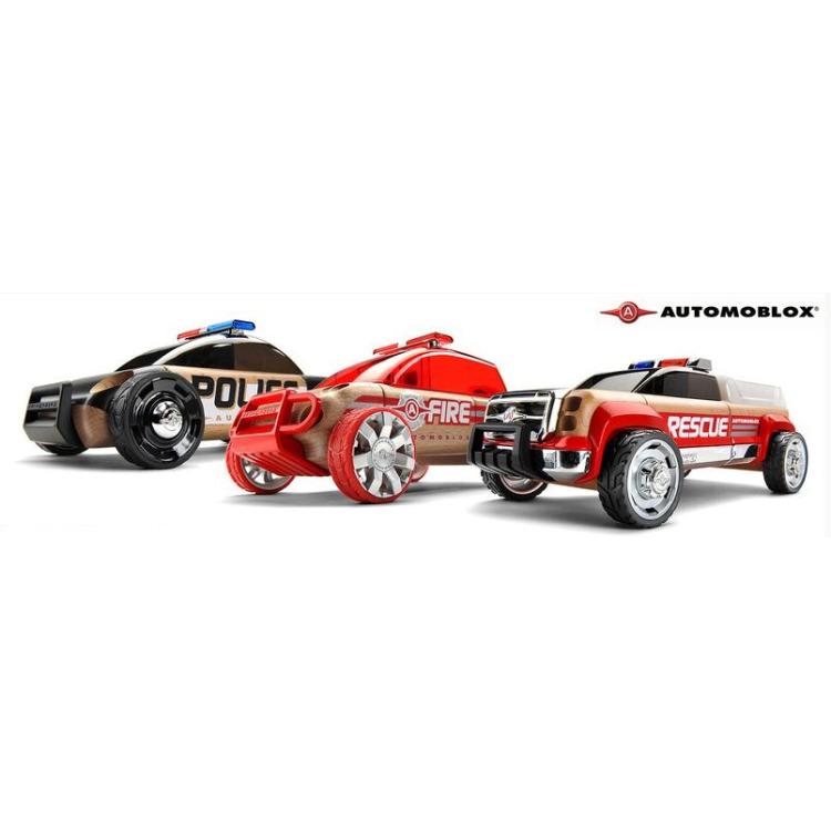 Automoblox: Mini S9 Politie/X9 Brandweer/T900 Rescue