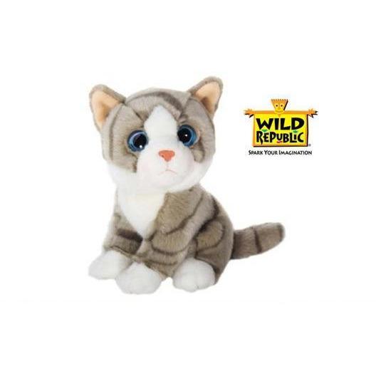 Wild Republic Knuffel - Grijze Tijger