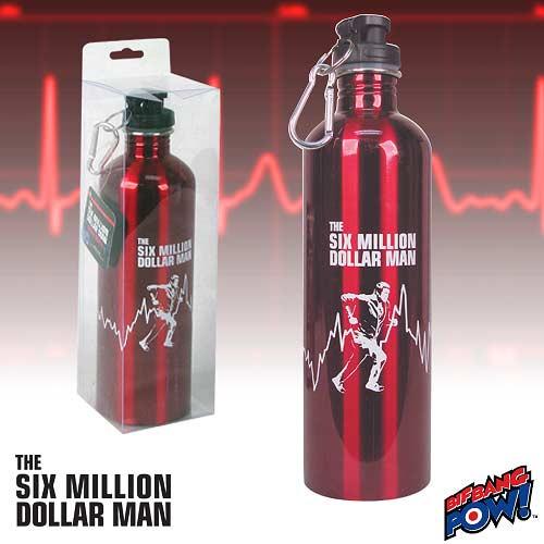 Image of Six Million Dollar Man: 750 Ml Water Bottle