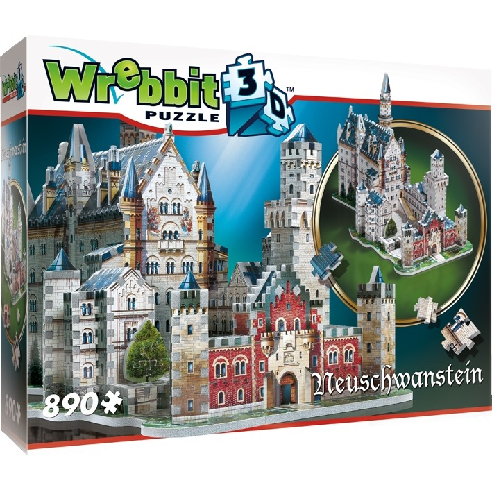 3D puzzel Neuschwanstein Castle 890 stukjes