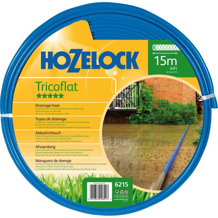Hozelock Tricoflat afvoerslang 25mm 15m