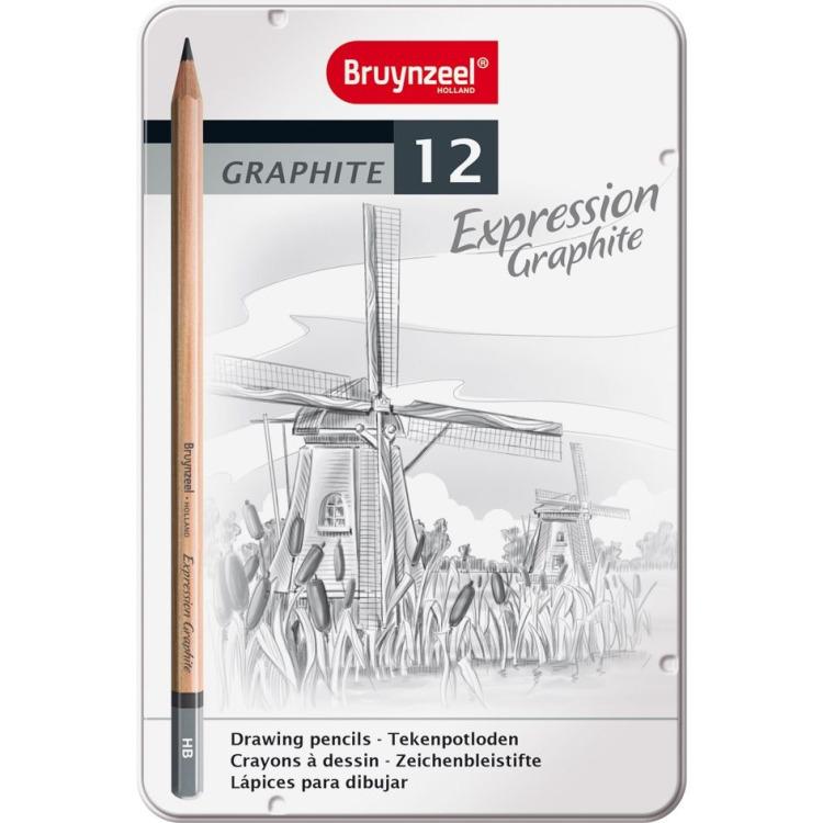 Image of Grafietpotloden In Blik Expression: 12 Stuks
