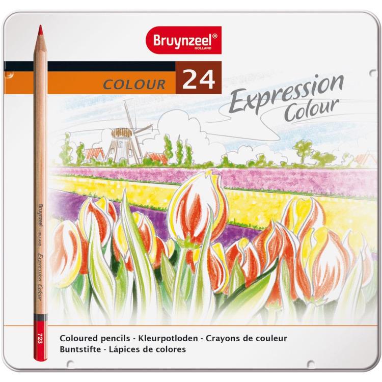 Image of Kleurpotloden In Blik Expression: 24 Stuks