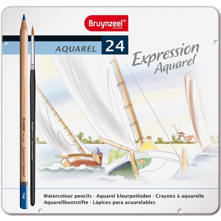 Image of Aquarelpotloden In Blik Expression: 24 Stuks