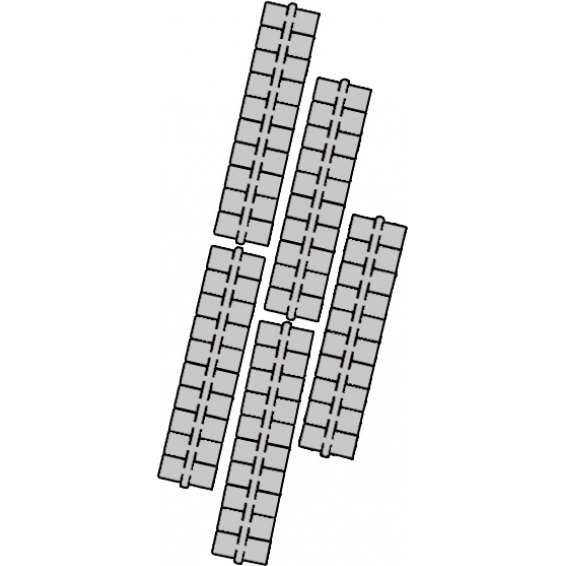 1 punt kleurstrips grijs P6 (641), 10 stuks
