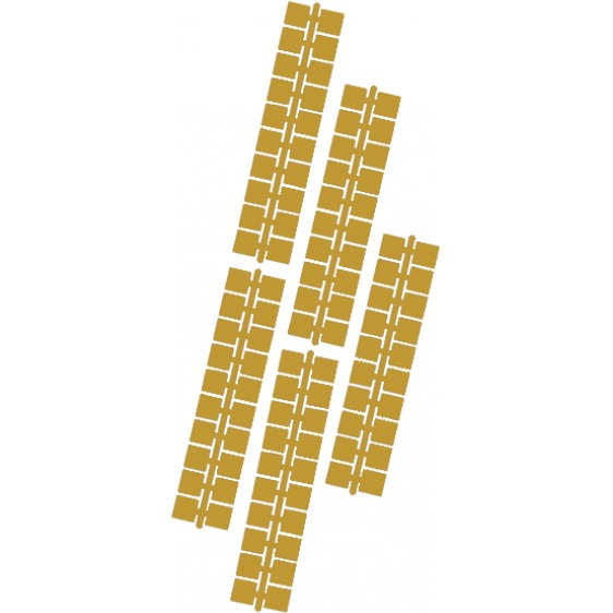 1 punt kleurstrips goud (618), 10 stuks