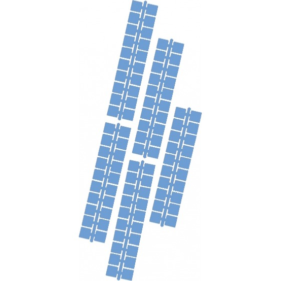 1 punt kleurstrips middelblauw (624), 10 stuks