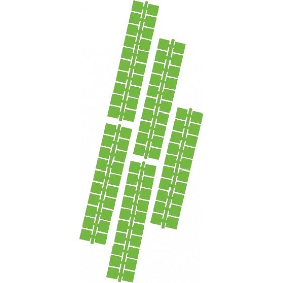 1 punt kleurstrips middelgroen (621), 10 stuks