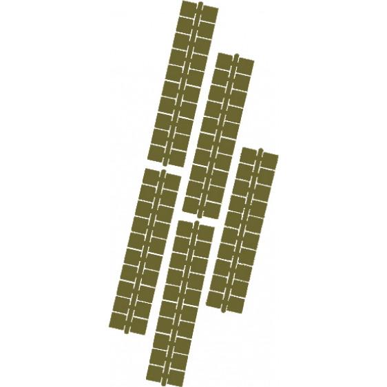 1 punt kleurstrips olijfgroen (617), 10 stuks