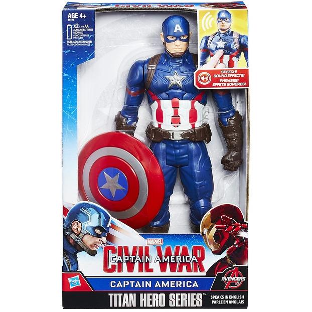 Captain America elektronisch figuur 30 cm