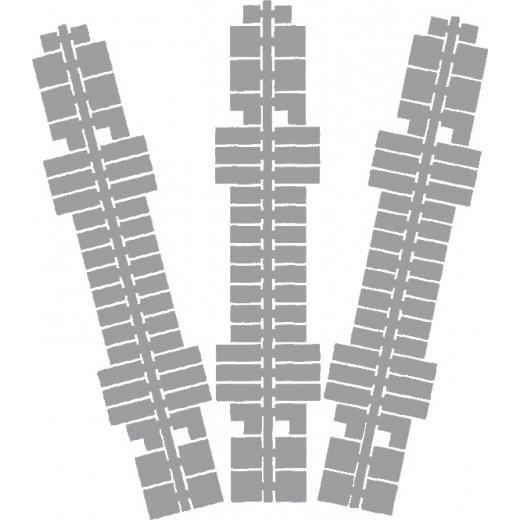 Ministeck kleurstrips P2 grijs 9 stuks