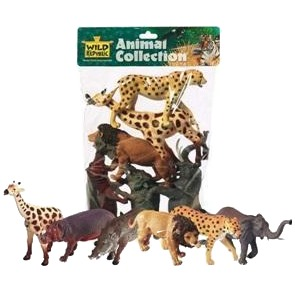 Wild Republic - 6 Plastic Dieren Afrika