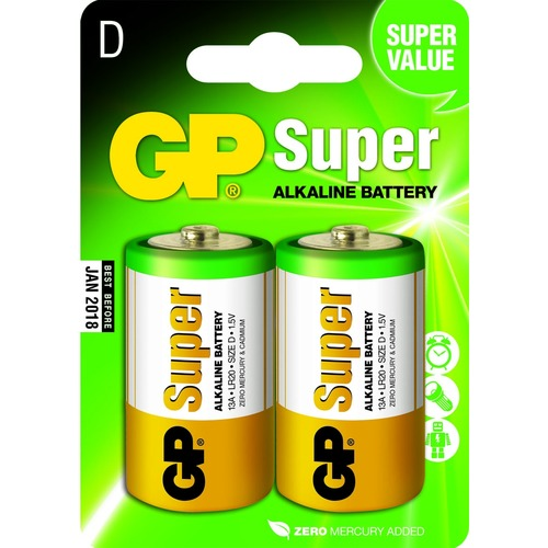 GP Super Alkaline D Mono grote staaf. blister 2