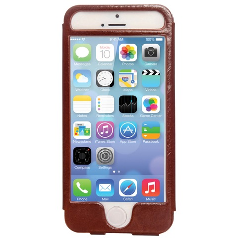 Mosaic Theory Mtel21-001 brn Phone Case Leather For Iphone 5s-5 Brown
