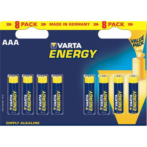 Varta Energy Type-AAA Minipenlite Batterij 1,5volt 8stuks