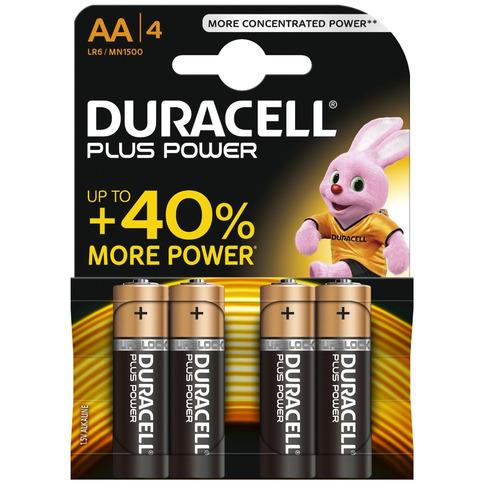 Duracell Plus Power MN1500 - Battery 4 x AA Alkaline