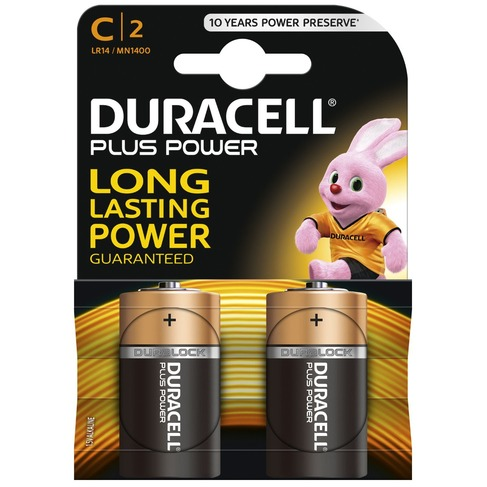 Duracell Plus Power 2-pack C