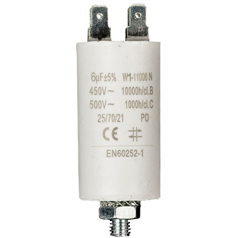 Productafbeelding voor 'Condensator 6.0uf/ 450 V + aarde'