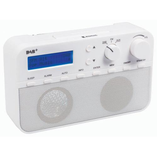 DAB+ radio 20 voorkeurzenders en alarmklok wit