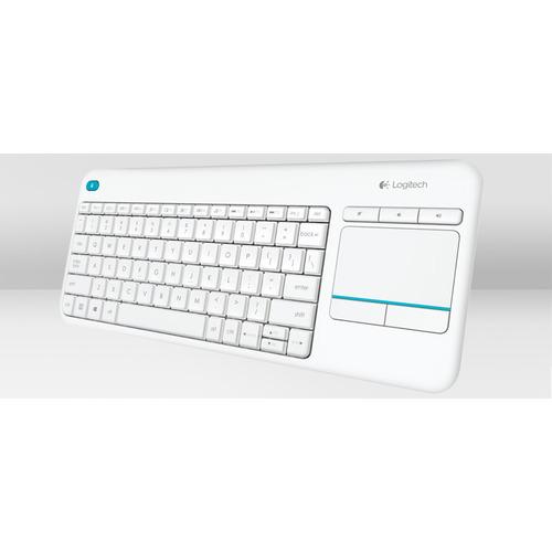 Logitech Wireless Touch Keyboard K400 Plus - White - Swiss