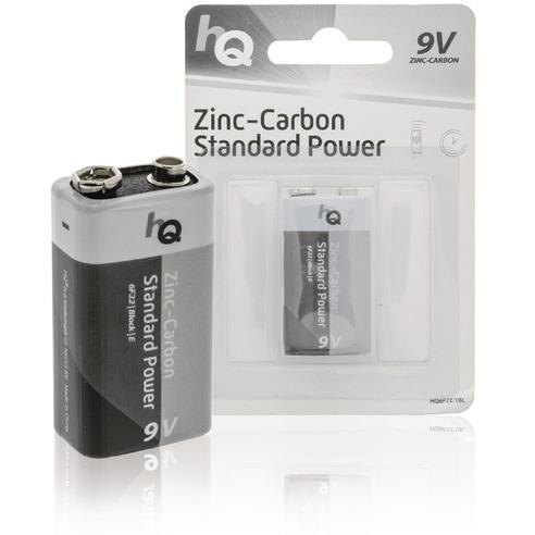 Zink-koolstof 9V-batterij blister 1 stuk