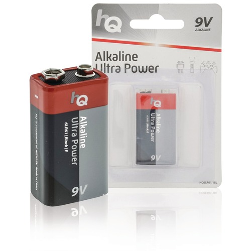 Alkaline 9V-batterij blister 1 stuk