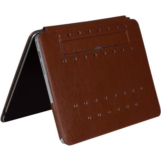 """Gecko Covers Luxe Stand-Case voor MacBook Pro Retina 13"""" -Bruin"""