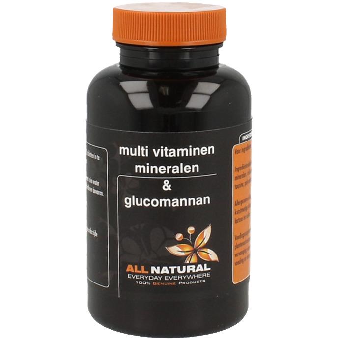 Image of Multivitaminen, Mineralen En Glucomannan, 100 Tabletten