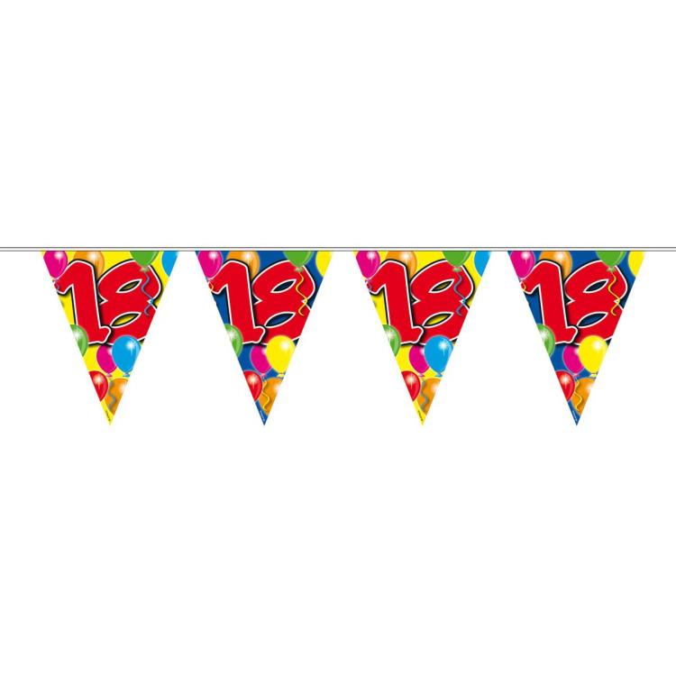 Vlaggenlijn balloons 18 jaar 10-stk