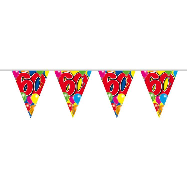 Vlaggenlijn balloons 60 jaar 10-stk