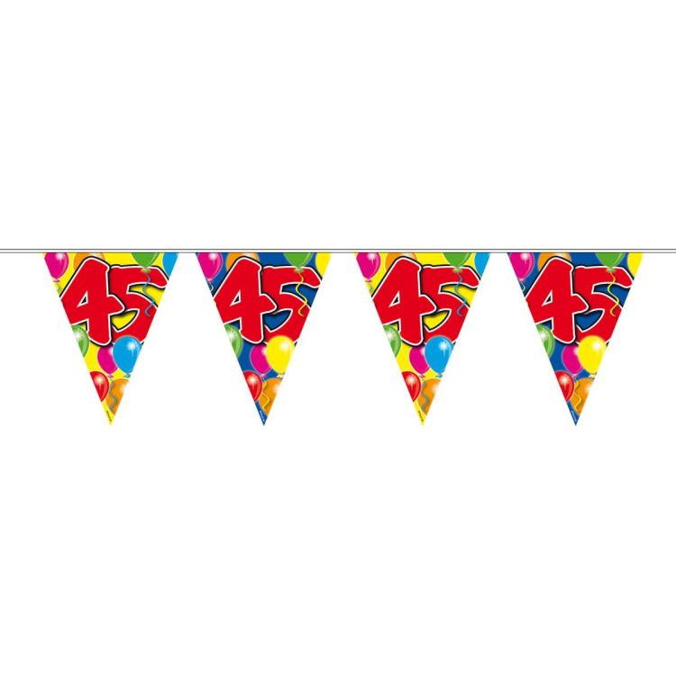 Vlaggenlijn balloons 45 jaar 10-s