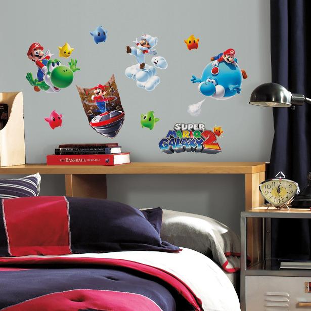 Stickervel Mario Muur: 4 Vel 25x46 Cm