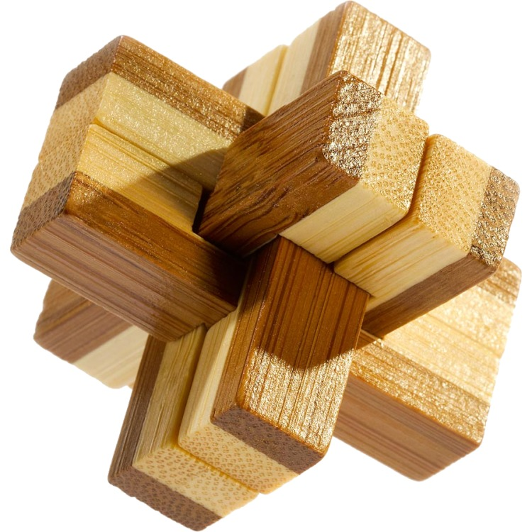 Image of 3D Bamboo Breinpuzzel Knotty ***