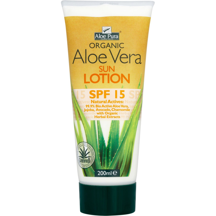 Image of Organic Aloe Vera Sunlotion SPF 15, 200 Ml