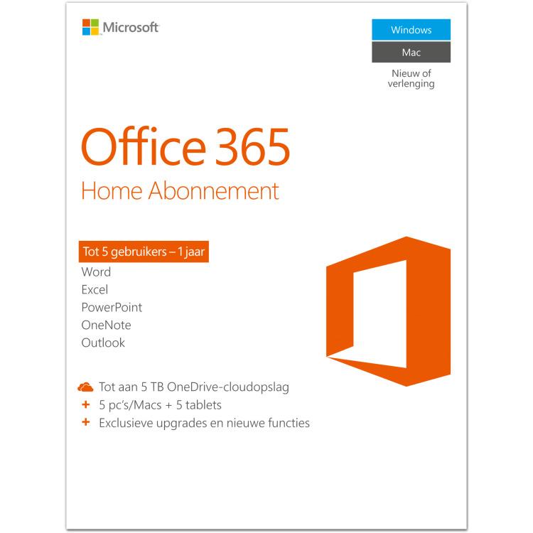 Productafbeelding voor 'Office 365 Home'