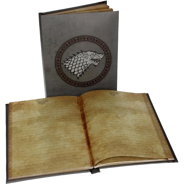Productafbeelding voor 'Game of Thrones: Stark Notebook with light'