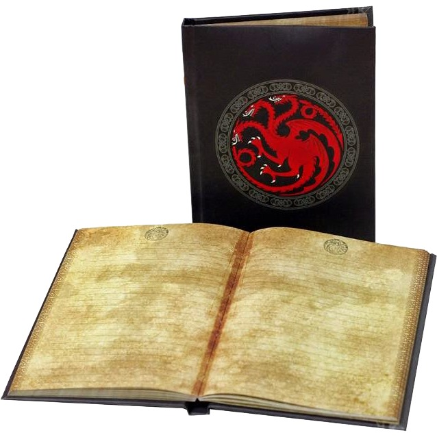 Productafbeelding voor 'Game of Thrones: Targaryen Notebook with light'