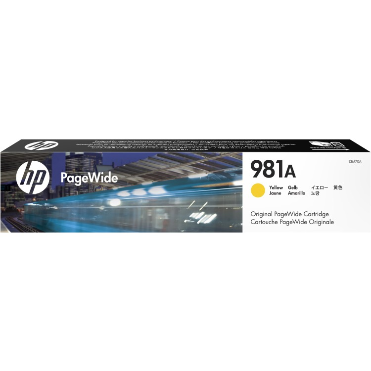 Image of 981A Originele Gele PageWide cartridge (J3M70A)