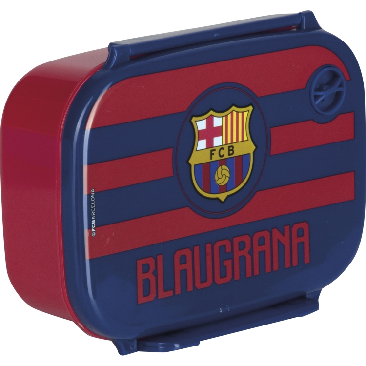Image of Barc Lunchbox Barcelona Rood Stripes