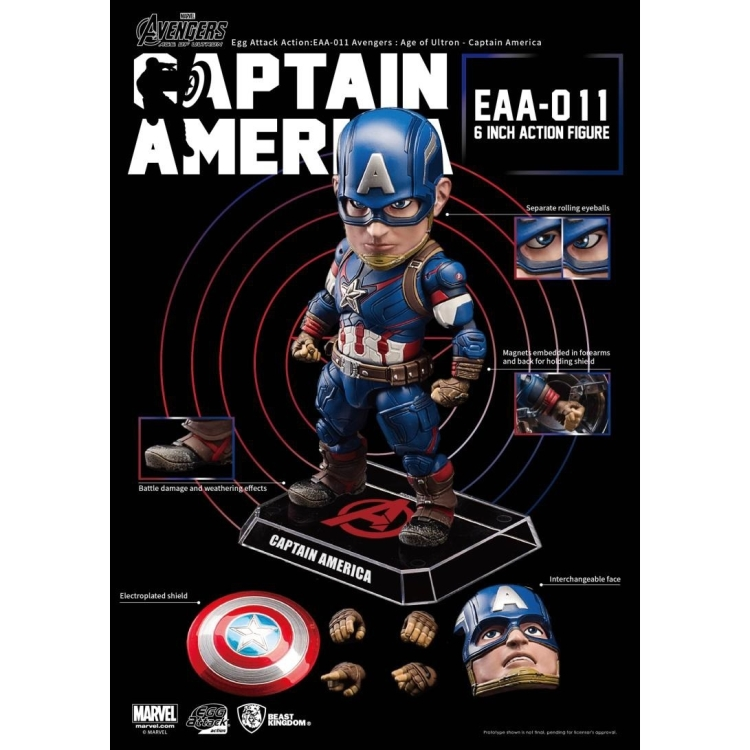 Image of Avengers: Age Of Ultron - Captain America Egg Attack AF