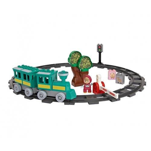 Image of Big - playbig bloxx - masha en de beer - trein fun