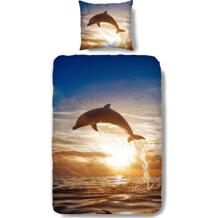 Image of Dekbedovertrek Dolfijn 140x200cm