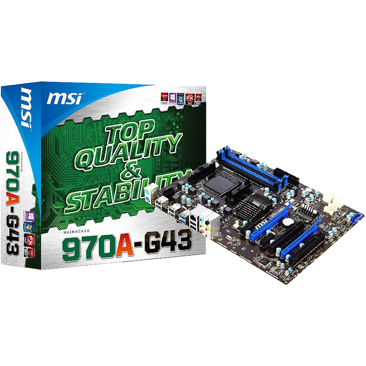 MB MSI AMD AM3 970A-G43